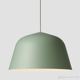 Wholesale Rooms Painted Black - Fast shipping Danish Muuto Ambit Metal Pendant Light Nordic Minimalism Paint Colored Aluminium E27 Led Suspension Lamp For Dining Room
