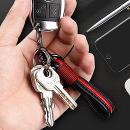 Discount ford key rings - Cool Metal PU Leather Car Key Chain Ring Holder for Car Keys - Leather Keychains Keyrings for Mercedes BMW Audi Toyota Honda Ford
