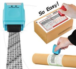Wholesale roller protections - New Hot Identity Theft Protection Stamp Seal Roller Seal Photosensitive Cover Personal Information Protect Personal Privacy Seal