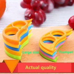 Wholesale Plastic Orange Peelers - Mouselet Orange drive Creative kitchen gadgets plastics Orange orange stripper