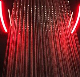 2019 cortina led que cambia de color Función 4 Cabeza de ducha oculta LED electrónico Cambio de color Cabeza de ducha Grifos Ducha de lluvia Agua Cortina de otoño Baño de pulverización cortina led que cambia de color baratos