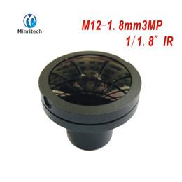 "2019 cámaras de zoom largo DIY 3MP HD 1 / 2.7 ""1.8 mm 180 Grados Ojo de pez Vista gran angular Lente 3Megapixel M12 Montaje para cámara IP CCTV"