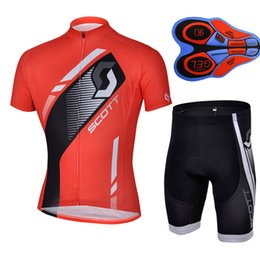 Wholesale Scott Riding Shorts - SCOTT team 2017 man cycling jersey (bib)shorts sets Ropa Ciclismo Cycling clothing Quick-Dry Breathable 9D GEL Pad bike riding clothes A154