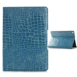 Wholesale Leather Case Crocodile Ipad Mini - Luxury Crocodile Grain Cover Tablet Cover Card Slot Flip PU Leather Cover Case Shockproof For iPad Samsung Tablet OPPBAG