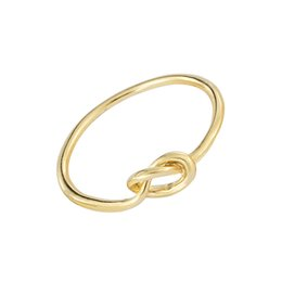 Wholesale Knot Ring Gold - Wholesale 10Pcs lot Free Shipping 2017 Hot Sale Gold Filled Midi Rings Infinity Knot Engagement Rings For Women Alloy Jewelry
