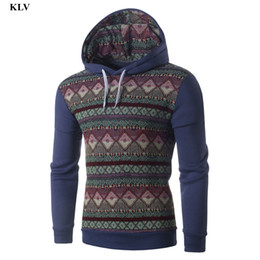 Wholesale Turtleneck Jacket Boys - Wholesale- Vintage Men Print Hoodies Male Autumn Winter Casual Long Sleeve Hooded Sweatshirt Boy Slim Tops Jacket Coat Outwear Blouse Dec7
