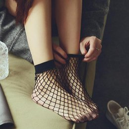red de chicas sexy Rebajas Moda sólido negro transpirable Fishnet Socks Cool Ladies Ladies Girls High Heels redes atractivas calcetines envío gratis