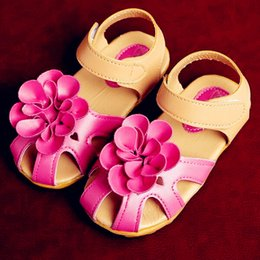 Wholesale Girls Sandals Flowers - DHL Free Shipping SHOES Children's Summer Sandals Baby Girl's Fashion Clogs Kid's fashion Flower shoes girls newest Shoes 5 Pairs CK219