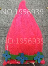Wholesale Wig Supplies Free Shipping - Trolls Cosplay Wig+headband Trolls Wigs Poppy 2017 Happy New Year Trolls Girls Party Supplies Cosplay DHL Free Shipping