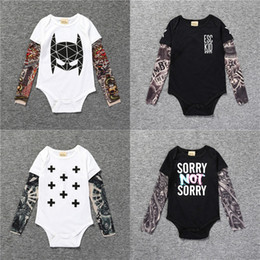 293c2d058cdd Baby Rompers Suit Autumn Children Triangle Romper Onesies Long Sleeve  Tattoo Jumpsuits Kids Cotton Clothing Factory Free DHL 395