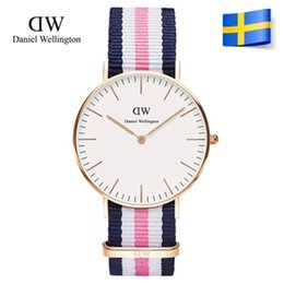 Wholesale Ladies Waterproof Watch Blue - 2017 New Luxury Brand Wellington relojes Ladies watch Quartz women's wrist watch leather Strap Waterproof Clocks reloj mujer