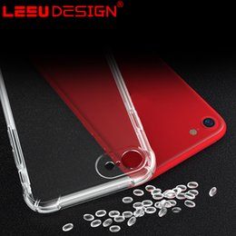 Wholesale Iphone Silicon Speaker - LEEU DESIGN iphone 7 plus slim case silicon air cushion stereo sound speaker iphone 7 clear bumper case for iphone 6s plus