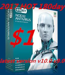 Wholesale Half Window - new ESET NOD32 Antivirus v10.0 V9.0 V7.0 V8.0 180day 3pc key Half year English version 6 months Account 2018 key