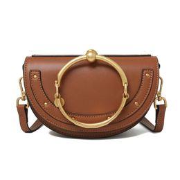 Wholesale Mini Bag Shoulder Strap - 2017 Hot Sale HighEnd Style Nile Bracelet Ring Circle Hoof Strap Corssbody Flap Bag
