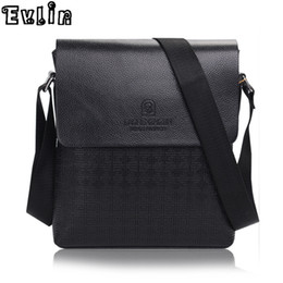 Wholesale Bag File Briefcase - Wholesale- Evlin Men Briefcase Bags 2016 Brand High Quality Leather Man Crossbody Business Bag For Ipad Files Male Shoulder Bags 6026