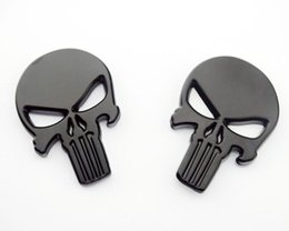 Wholesale Wholesale Metal Windows Doors - NEW Automobile personality modified car metal sticker the skull Free shipping