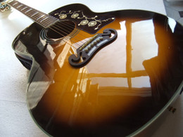 Wholesale Electric Guitars Vintage Sunburst - Wholesale-New Arrival Electric Acoustic Guitar SJ200 Model eT-5 Pick ups In Vintage Sunburst 100918