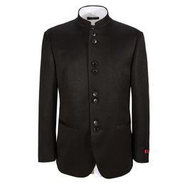 Wholesale Groom Suit Popular - Wholesale- men jacket wedding groom handsome suit jacket fashion popular style Mandarin collar custom high quality men jacket