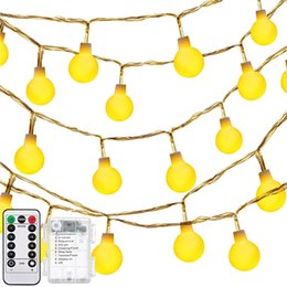 Wholesale Glass Ball Globe - Globe Battery Operated String Lights 13 Feet 30 Leds Fairy Starry Lights Glass Ball Stirng Lights with 8 Modes Remote Controller Waterproof