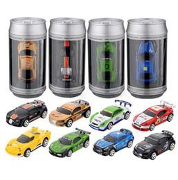 caminhões de brinquedo vermelho Desconto Venda quente Coque Pode Mini RC Car Radio Controle Remoto Micro Carro de Corrida 4 Freqüências Frete Grátis