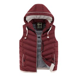 Wholesale Mens Padded Jackets - Wholesale- Colete Masculino New Mens Jacket Sleeveless Veste Homme Winter Chaleco Fashion Casual Hooded Cotton-Padded Coats Waistcoat XXXL
