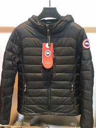 Wholesale Mens Down Winter Parkas - High Quality CANADA New Winter women's Down puffer jacket Casual Brand Hoodies Down Parkas Warm Ski Mens Coats Black Red 706
