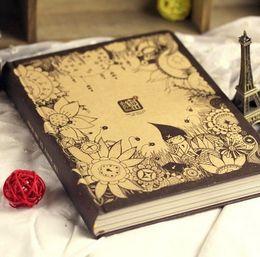 Wholesale Memo Pad Vintage - Wholesale- 1 x Luxury Desig Diary Paper Notebook Cute Korean Planner Note Pad Cahier Journal Memo Gift Guest Book