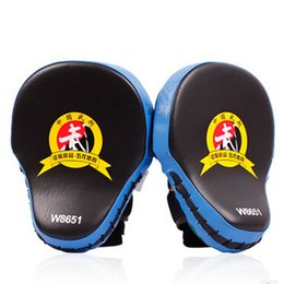 Wholesale Mma Wholesale Fight Gear - 2pcs lot New Hand Target MMA Focus Punch Pad Boxing Training Gloves Mitts Karate Muay Thai Kick Fighting Yellow Red Blue Fitness