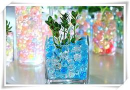 Wholesale Polymer Gel - 20000pcs bag crystal soil hydrogel Gel polymer Water beads flower wedding decoration Growing Water balls Big home decor