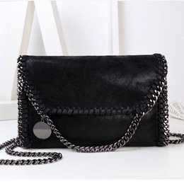 Wholesale Evening Clutch Bags Womens - Fashion Womens Stella design Chain Detail Cross Body Bag Ladies Shoulder bag clutch bag bolsa franja luxury evening bags