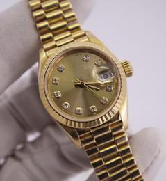Argentina Lujo de alta calidad de 18 quilates de oro 26mm automático mecánico femenina mesa Asia 2813 movimiento reloj automático Relojes cheap automatic tables Suministro