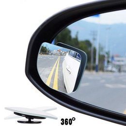 Wholesale Motorcycle Rear View - 2pcs lot Adjustabe HD Glass Convex Car and Motorcycle Blind Spot Mirror for parking Rear view mirror Rain Shade