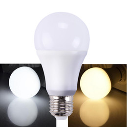 Wholesale E27 Globe Dimmable - Led Dimmable bulb high Brightness 900Lm 9W 2835 Led Bulbs White plastic Aluminum Light 220 Angle cool white warm white AC110-220V CRI 80Ra