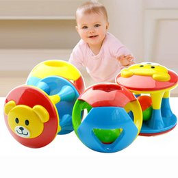 Wholesale Little Plastic Balls - Wholesale- 3 Pcs Bell Ball Eco-friendly Plastic Baby Toy Fun Little Loud Jingle Ball Ring Jingle Develop Baby Intelligence Toy Gifts