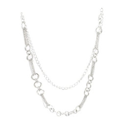 Wholesale Black Chain Link Belt - Wholesale- HOT SALE!New Silver Tone Hoops Multi Strand Links Metal Cinch Waist Chain Belt for Lady