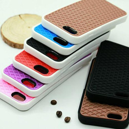 Wholesale Silicone Case Iphone Waffle - Colorful Van Waffle Soft Silicone Shoe Sole Back Case for iphone 5 5S SE iphone 6 6S Plus 7 7 Plus
