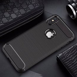 Wholesale Classic Styling Brush - Luxury phone capa funda for iphone 8 7 For samsung S8 S7 case classic carbon fiber soft silicone Brushed cases cover coque Business style
