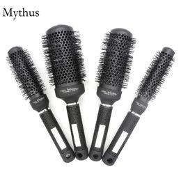 Wholesale Classic Styling Brush - 25mm,32mm,45mm,53mm Round Rolling Hair Brush Set,Classic Black Ceramic Ionic Hairdressing Air Brush,Pro Hair Styling Brush M-04