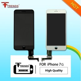 Wholesale Hot Touch Digitizer - Hot!AAA+++ For iPhone 7g 4.7inch LCD Touch Screen Display Digitizer Assembly 3D Touch Assembly Replacement Part Black & White free shipping