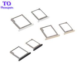 Wholesale White Trays - For Galaxy A3 A300   A5 A500   A7 A700 2015 Sim card Tray MicroSD Card Tray Holder Black White