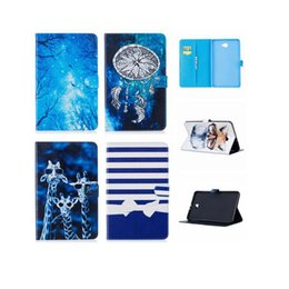 Wholesale Dog Tree - Bling Glitter Flower Leather Case For Samsung Galaxy Tab A 10.1 T585 T580 T580N Tree Owl Dog Deer Anchor Cards Slot Stand Pouch Soft Cover
