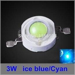 Wholesale Aquarium Led Lighting 3w - Wholesale- 50 Pcs lot 3W Cyan LEDs Ice Blue Green LED Beads Ball Grow Lamp Car LEDs Aquarium Lighting Source Diodes 490-495nm