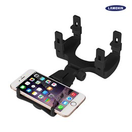 Wholesale Car Mirror Mount - For Iphone 7 Car Mount Car Holder Universal Rearview Mirror Holder Cellphone GPS Holder Stand Cradle Auto Truck Mirror