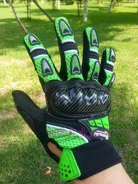 зеленые перчатки Скидка Оптовая продажа-Оптовая MOTO racing перчатки мотоцикл перчатки мотоцикл передач рука черный и зеленый размер M L XL
