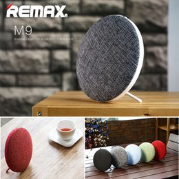 Wholesale Player Style - Remax RB-M9 HIFI Speakers Portable Bluetooth Speaker Bluetooth V4.1 Wireless Speaker Desktop Fabric Art Style Music Player Dual Stereo