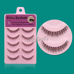 Wholesale Nature Cross - 60 Pairs HOT SALE Women Lady New Nature Short Cross Daily Fake Eye Lashes Fashion False Eyelashes Makeup Tools