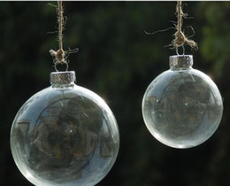 Wholesale Wholesale Glass Baubles - 2017 hot selling wedding bauble ornaments christmas xmas glass balls decoration christmas clear glass