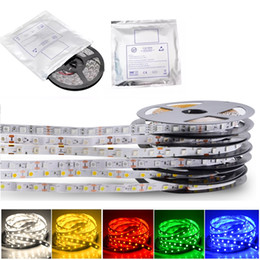 Wholesale Red Led Tape - 500m RGB Led Strips SMD 5050 5M 300 Leds Waterproof IP65 Led Flexible Strips Light DC 12V With 3M adhesive tape