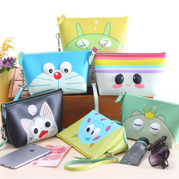Wholesale Large Coin Purse Bag - Lovely Large Capacity Cosmetic Bag Creative Waterproof Hand Coin Purse Bag Cosmetics Storage Wash Bag S117
