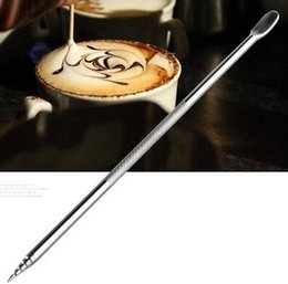 Wholesale Metal Needles - High Quality Barista Cappuccino Espresso Coffee Decorating Latte Art Pen Tamper Needle Creative High Quality AS12
